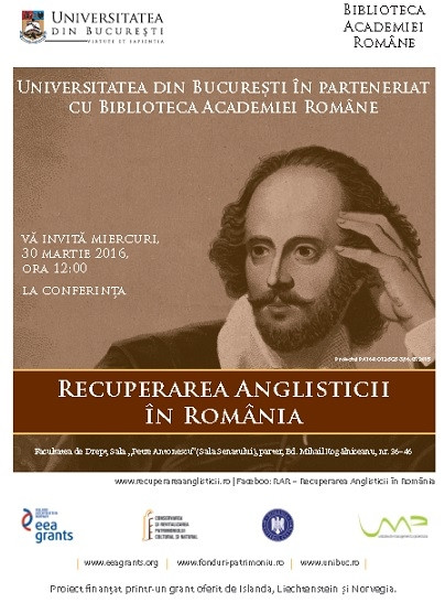 Reclaiming English Studies in Romania Conference-Disseminating the results to the specialised public